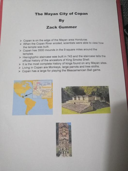 Look at this fantastic geography work! I love how it is set out and uses fantastic images.