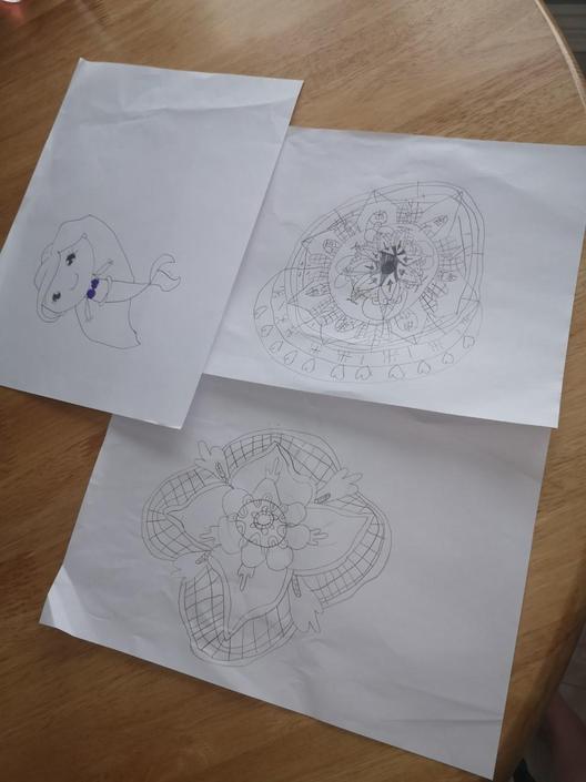 Erica has been busy creating Mandalas