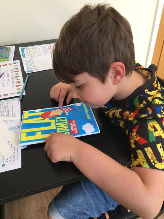 Finnlay enjoying his reading this week