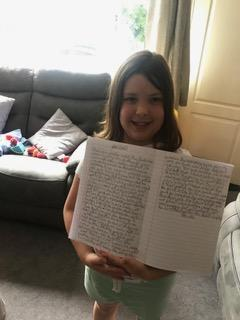 Olivia worked so hard with her story, well done!