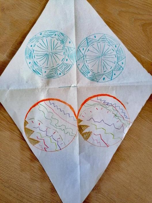 Jack has used Mandalas for his kite design.