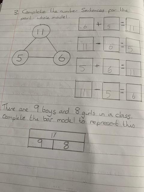 Callum has enjoyed his maths this week.