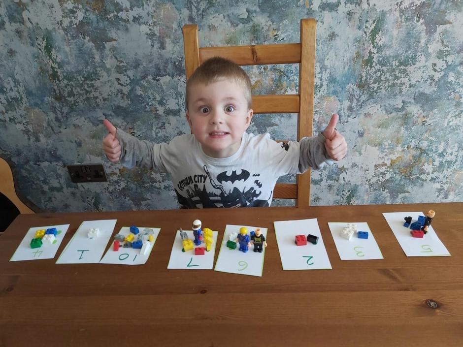 Lewis is very proud of himself, great numbers!