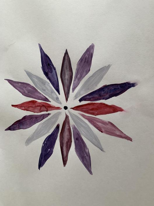 Miss Emery painted her own Mandala.