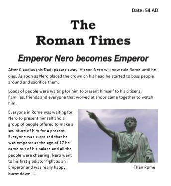 Wow! I thought I had travelled back in time and were reading about Nero becoming emperor!