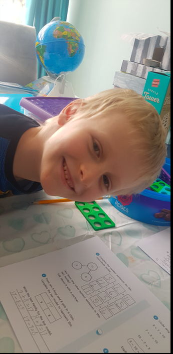 Jack has loved his maths learning this week.