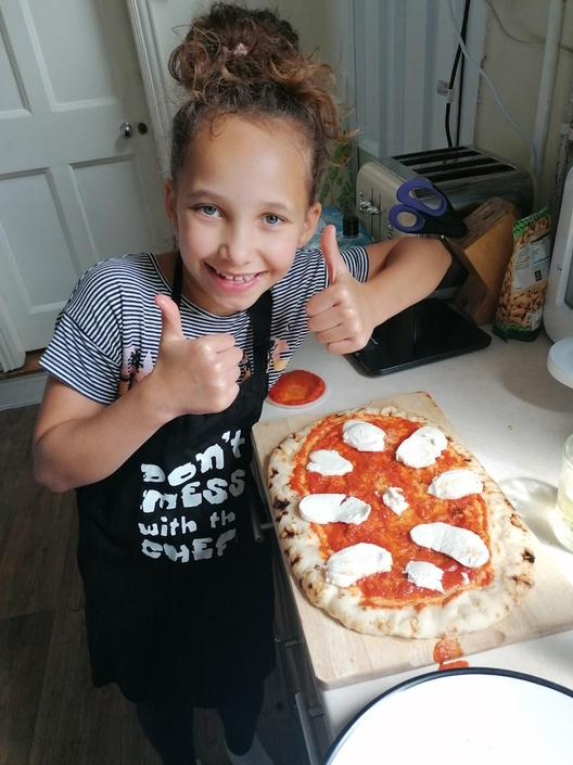 Cora's pizza Mandala - well done!
