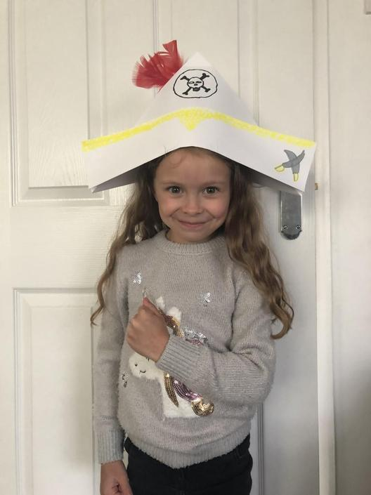 Isla in character for her reading comprehension