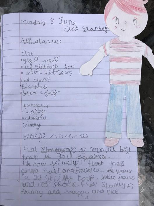 Lottie has enjoyed her work with Flat Stanley