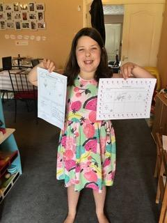 Olivia has completed another fab weeks learning.