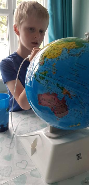 Jack has been working very hard with his Geography
