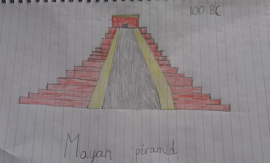 Look at the Maya pyramid! Lots of other photos too with big smiling faces!
