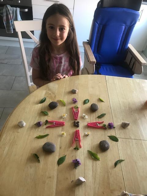 Eva has made beautiful Mandala
