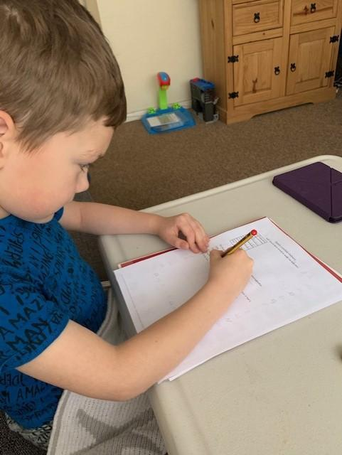 Jack has been working really hard this week - fab!