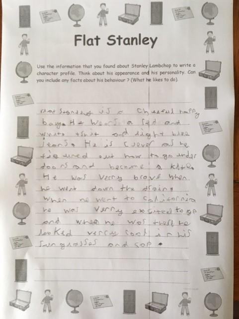 Oliver has worked hard with his writing.