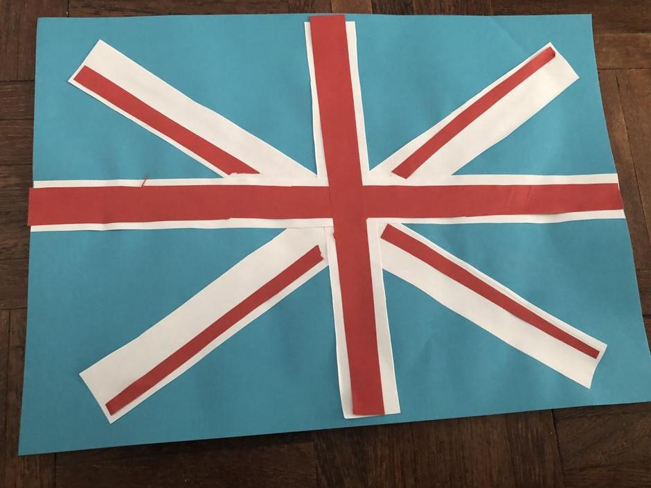 Isla's crafty Union Jack