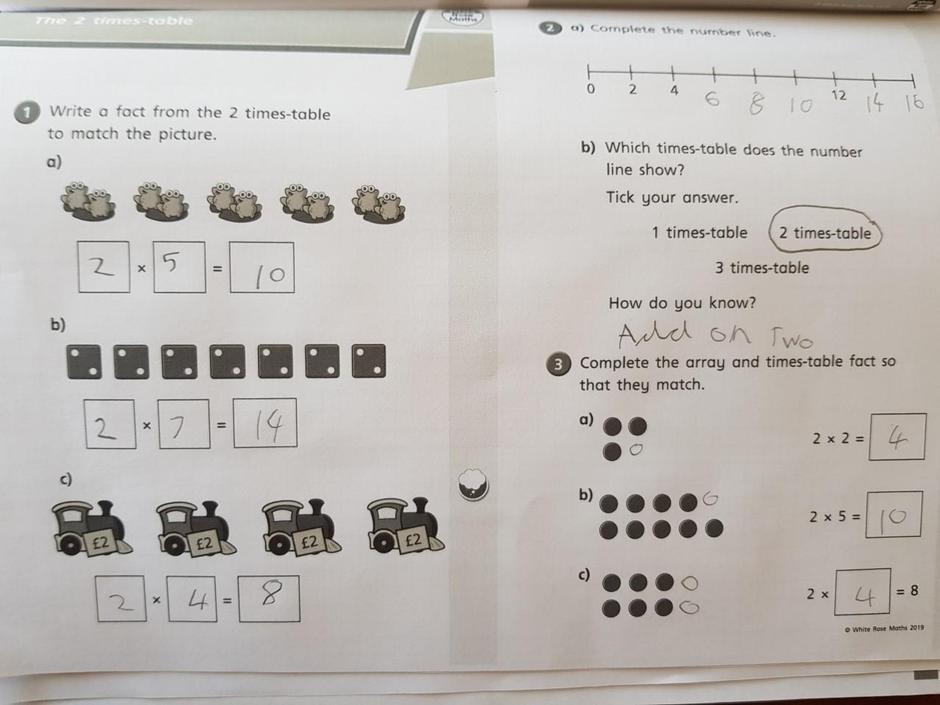 Well done Rhys - Fabulous maths learning again!