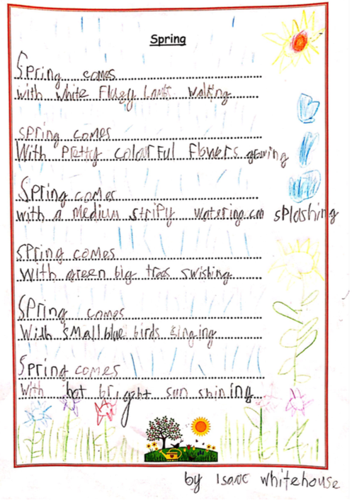 A lovely Spring poem from Isaac!