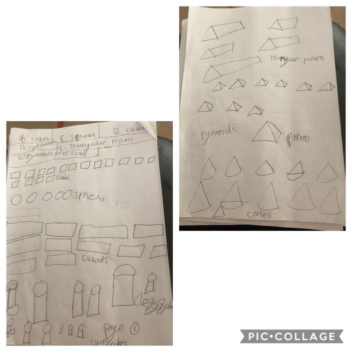 3D shape work from Holly