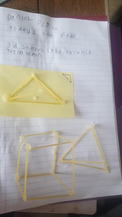 Daniel's 3D shape models made with spaghetti