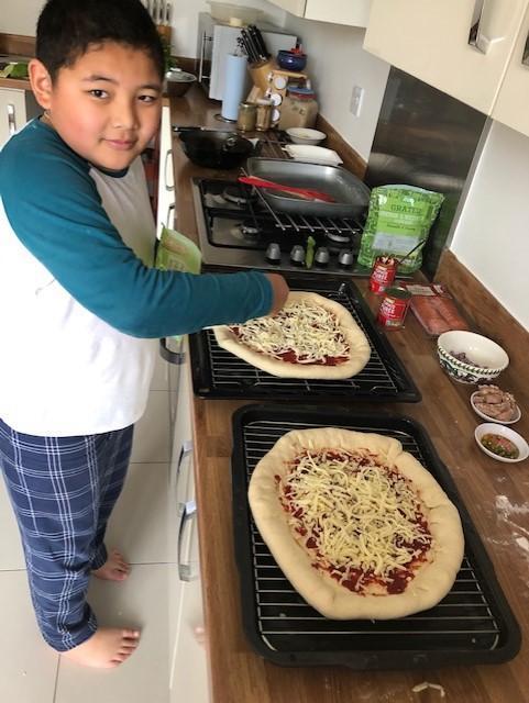 Aden the chef...