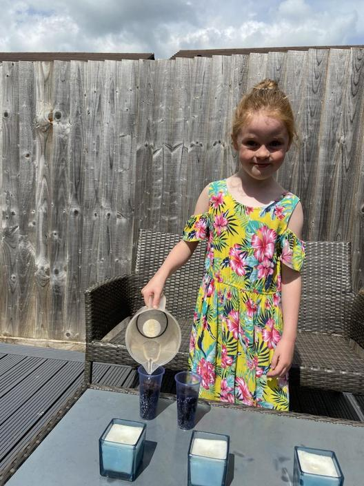 Sharna has been looking after her seedlings