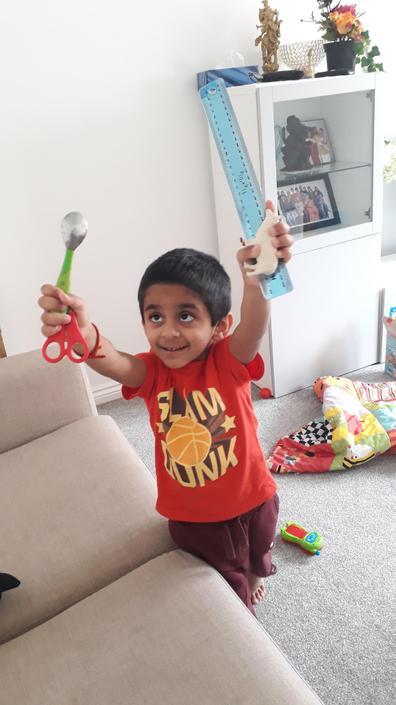 Anirudh doing his sound hunt
