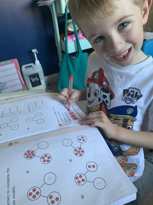 Spencer is loving his learning!