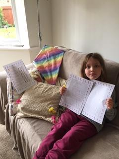 Sophie has worked so hard this week - well done!