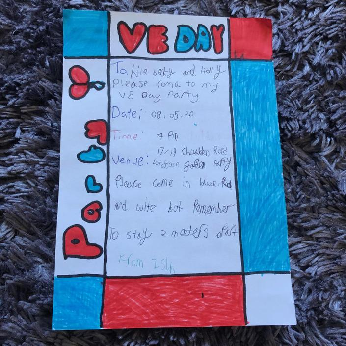 Isla has enjoyed planning her VE Day party