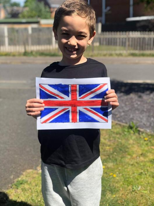 Rhys planning his Stay at Home VE Day Street Party
