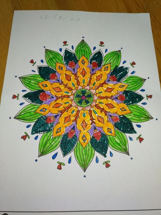 Harry's colourful Mandala
