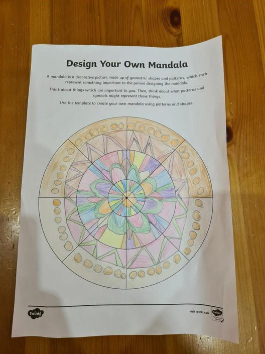 Ethan has created his own Mandala