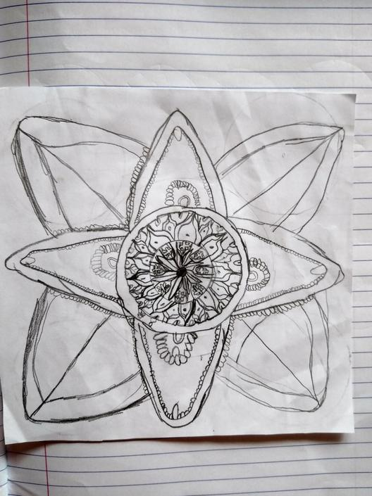 Praban has draw a beautiful Mandala.