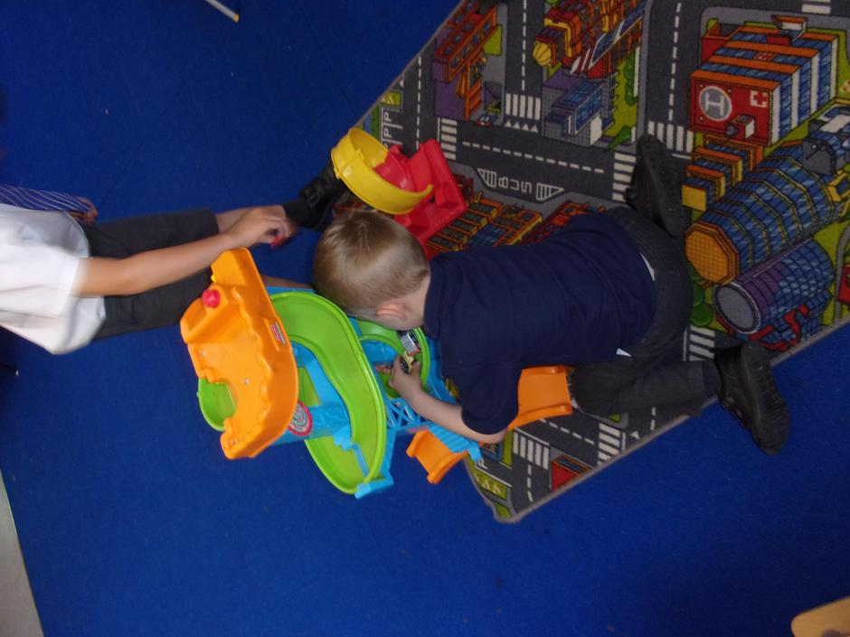 Playing with the cars