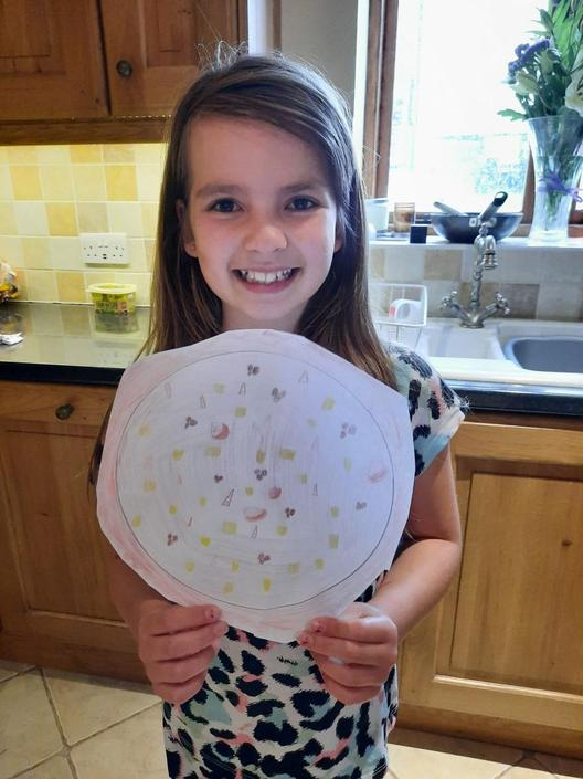 Ruby has designed an amazing pizza...