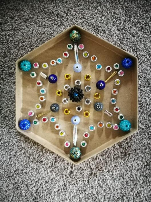 I lovely bead Mandala from Amelie