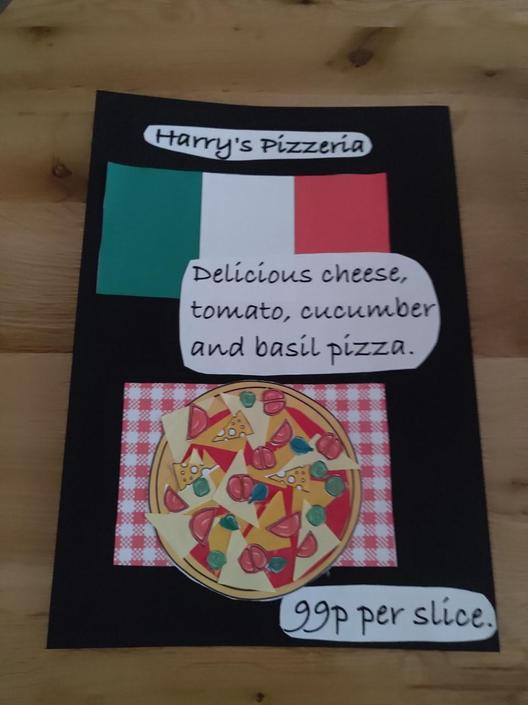 Harry is opening his own Pizzeria!
