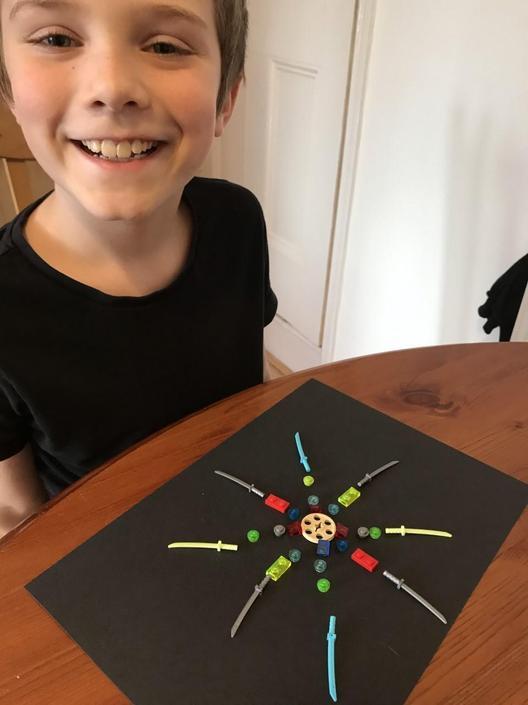 Zac has enjoyed making his own Mandalas this week