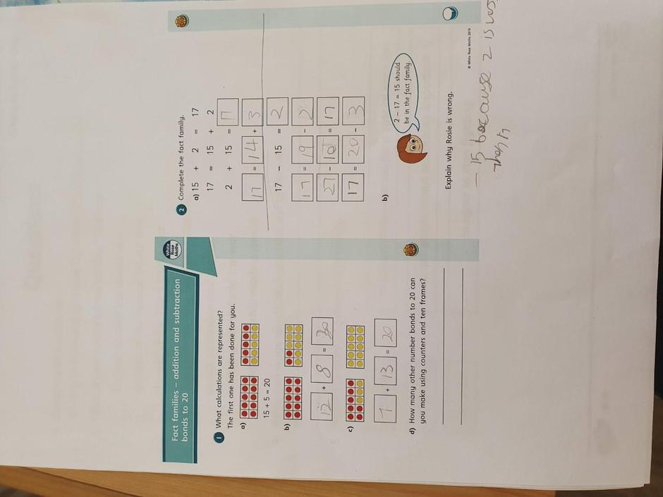 Isaac has been busy with his maths work this week