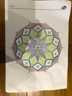 A colourful Mandala from Seth - well done.