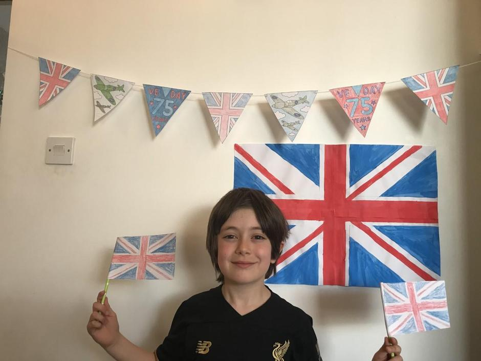 Zach is getting ready for his VE Day party