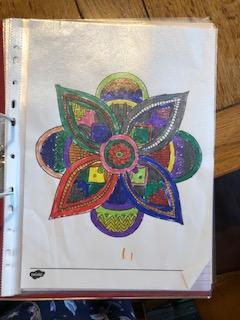Lily has coloured a beautiful Mandala.