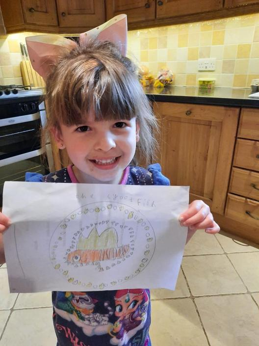 Rosie has designed a very special pizza!