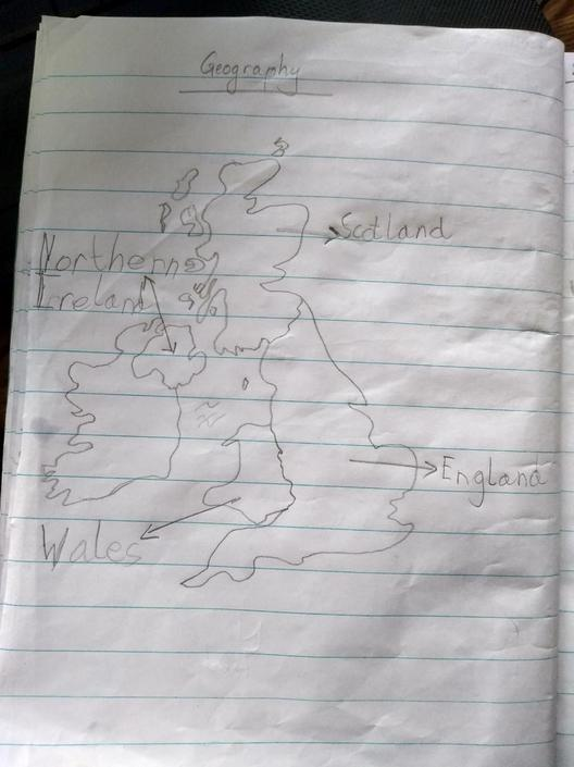 Pratik has worked hard with his Geography