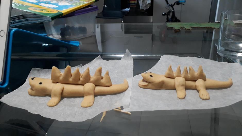 Anirudh made some Crocodiles with playdough