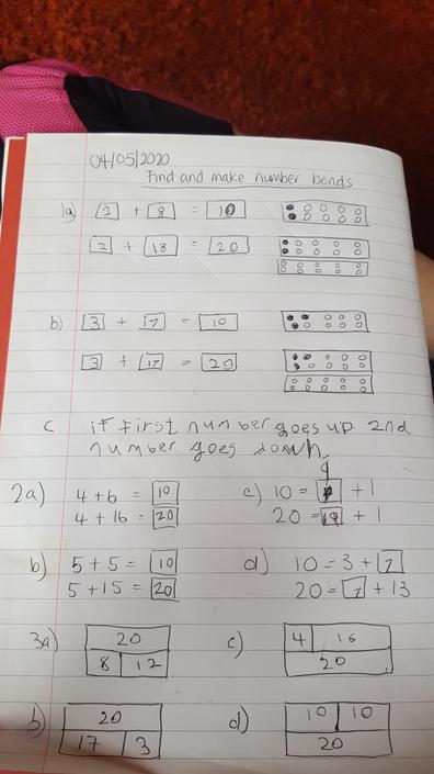 Daniel's been enjoying his maths this week