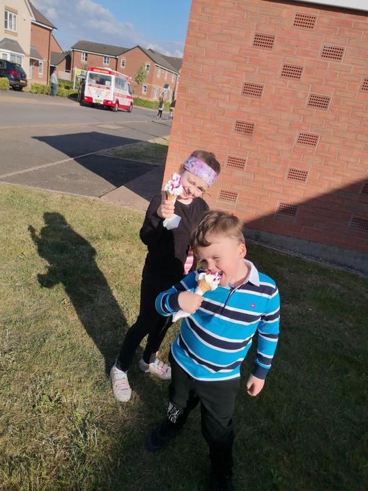Hurray the ice-cream van is back!