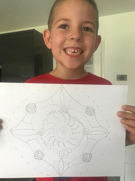 Harrison has enjoy his Mandala work this week.