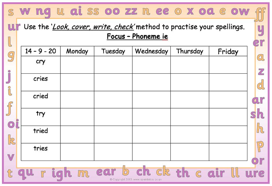 Y2 Spellings